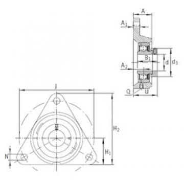 INA PCFTR12 Unidad De Rodamiento