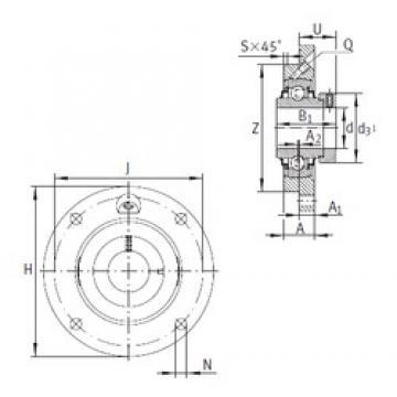 INA RME55 Unidad De Rodamiento