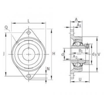 INA RCJT2-7/16 Unidad De Rodamiento