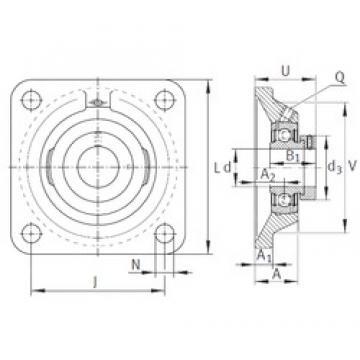 INA PCJ2-3/16 Unidad De Rodamiento