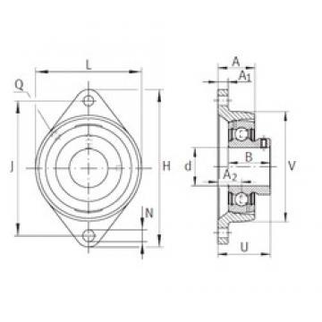 INA PCJTY5/8 Unidad De Rodamiento