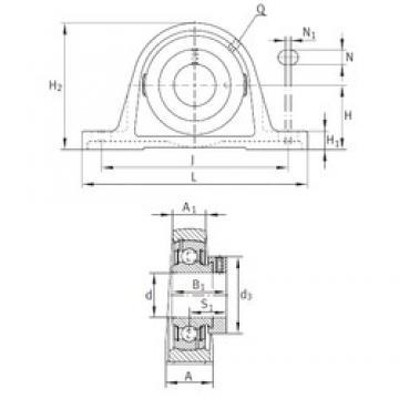 INA PASE1-1/2 Unidad De Rodamiento