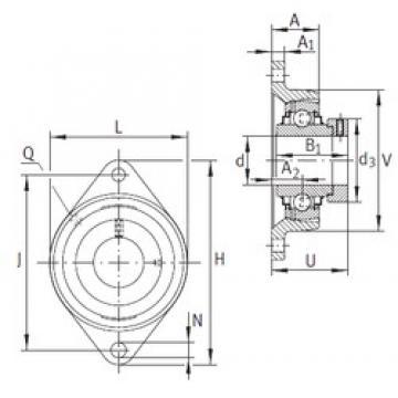 INA RCJT50-N-FA125 Unidad De Rodamiento