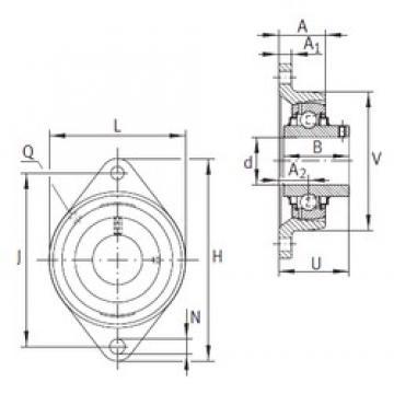 INA RCJTY45-JIS Unidad De Rodamiento