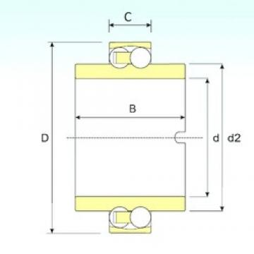 40 mm x 80 mm x 18 mm  ISB 11208 TN9 Rodamientos De Bolas Autoalineables