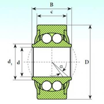 22 mm x 50 mm x 28 mm  ISB GE 22 BBH Rodamientos De Bolas Autoalineables