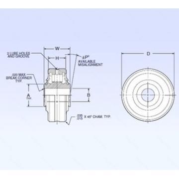 6,35 mm x 25,4 mm x 6,35 mm  NMB ASR4-1A Rodamientos De Rodillos Esféricos