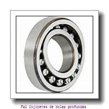 30 mm x 55 mm x 9 mm  FAG 16006 Cojinetes de bolas profundas