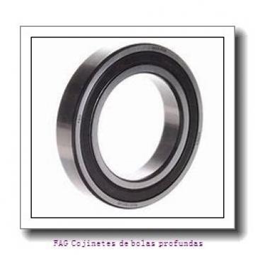 35 mm x 72 mm x 17 mm  FAG 6207-2Z Cojinetes de bolas profundas
